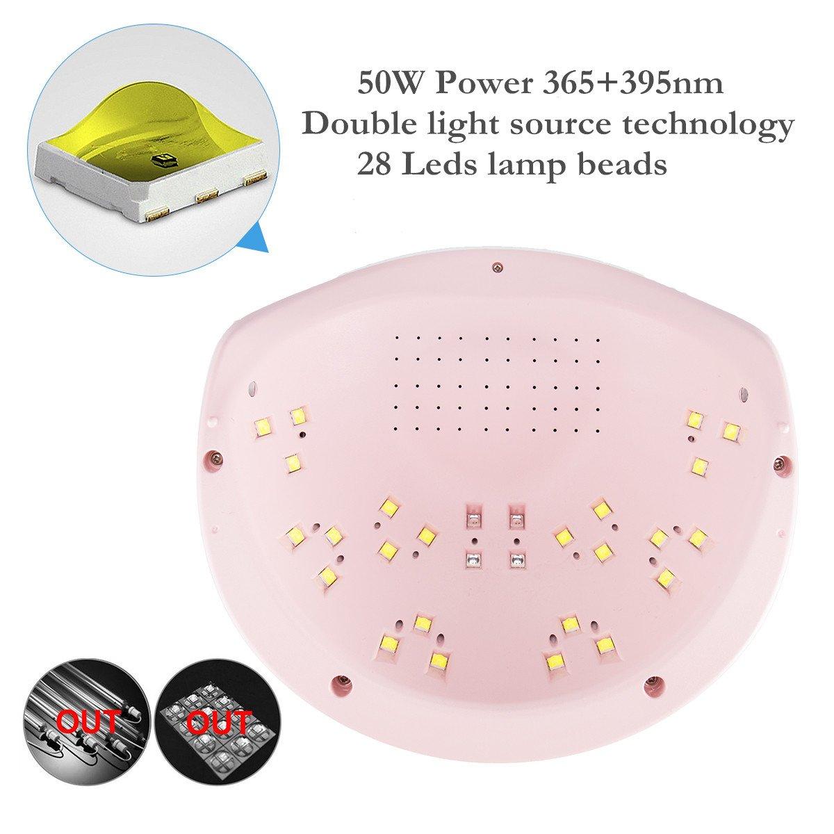 Nail Dryer UV LED Nail Lamp with LCD Display Screen 3 Timer