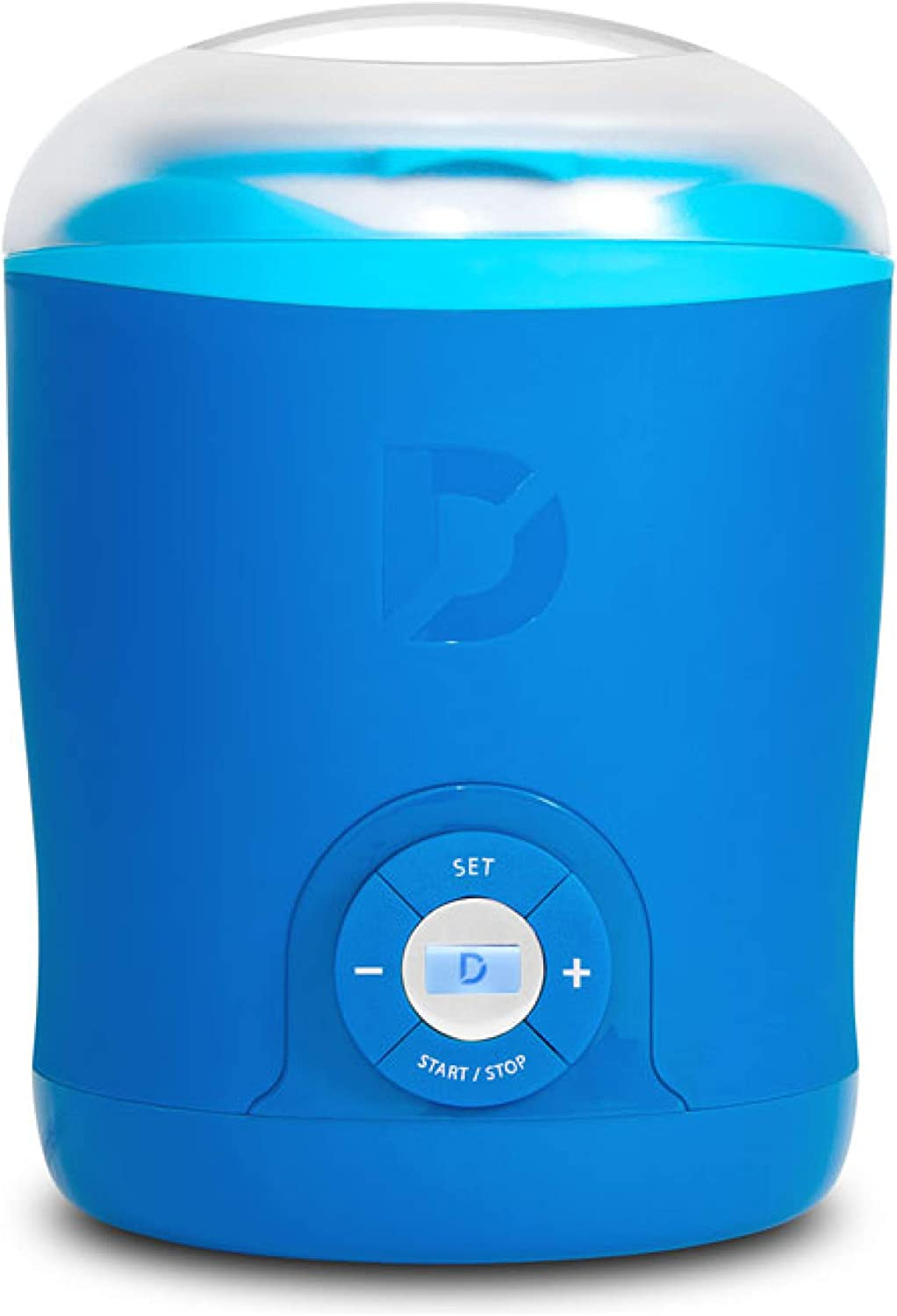 Dash Greek Yogurt Maker Machine with LCD Display + 2 BPA-Free Storage Containers with Lids, Blue: Kitchen & Dining