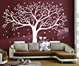 white tree decals - LSKOO Family Photo Frame Tree Wall Decals Family Tree Decal Living Room Home Decor (108