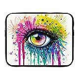 CHERINA RHEA Computer Bag Laptop Case Sleeve Bag Colored Eye Waterproof 13-15 Inch For IPad Air Macbook Pro Surface Book Notebook Ultrabook