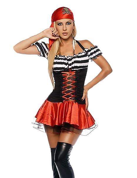 Saoye Fashion Mujer Disfraz Pirata para Carnaval Vestidos De Fiesta Vintage  Gothic Niñas Ropa Cosplay Disfraz 6affe579b2b