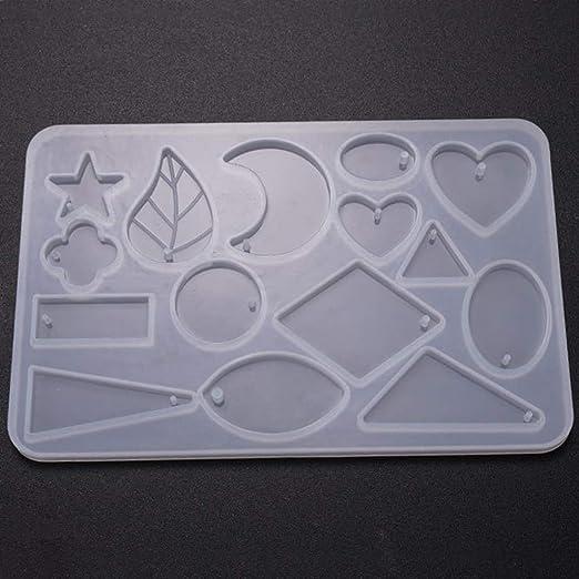12 Diseños Moldes de Silicona Colgante Ideal Usar para Resina de DIY Manual
