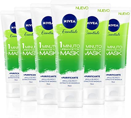 NIVEA Urban Skin Detox Mascarilla Purificante 1 Minuto en pack de ...