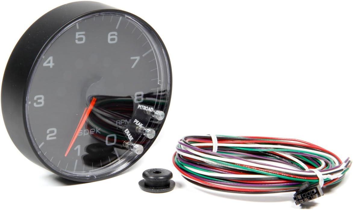 0-8,000 RPM, 52.4mm ProParts P334328 Spek-Pro 2-1//16 Electric in-Dash Tachometer