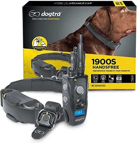 Dogtra 1900S HANDSFREE Discreet and Immediate Control 3 4-Mile IPX9K Waterproof High-Output Ergonomic Remote Dog Training E-Collar