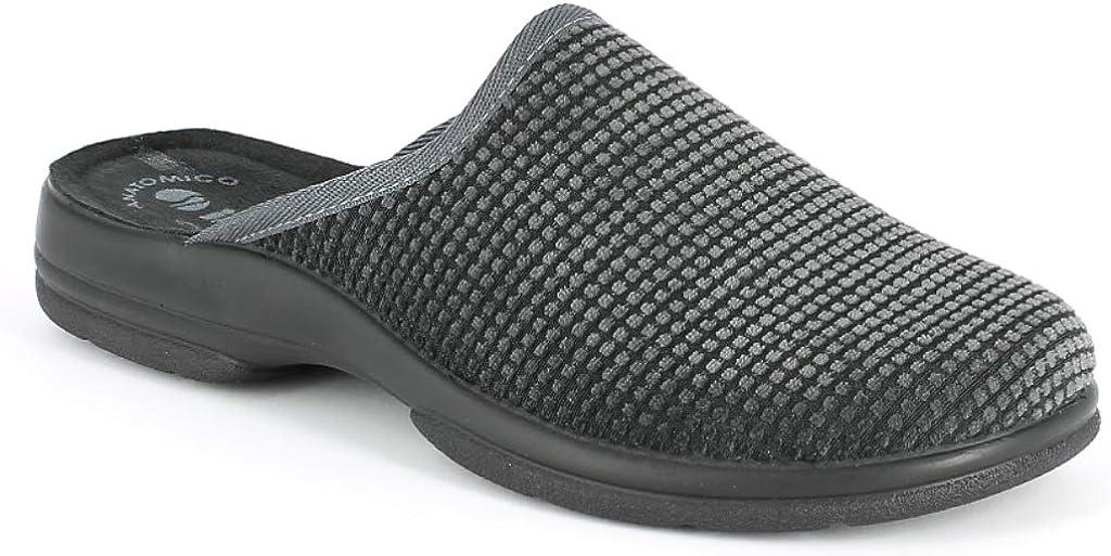 inblu Pantofole Ciabatte da Uomo Invernali MOD PO-59 Grigio