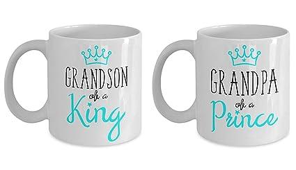 Amazon.com: Grandpa Mug Matching Grandson Funny Grandfather ...