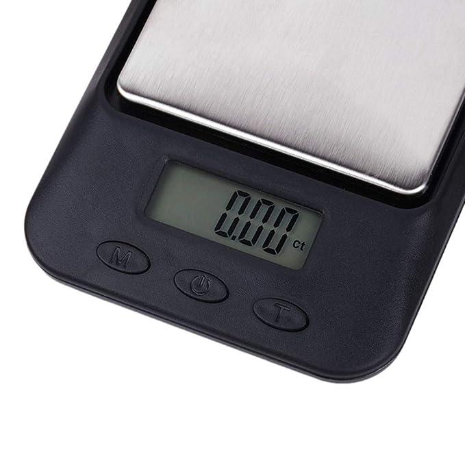 webla báscula de Cocina electrónica multifunción sin batería 0.01 gram Joyas de precisión electrónica Báscula Digital Peso Báscula de Bolsillo 200 G: ...