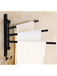 ELLOu0026ALLO Oil Rubbed Bronze Swing Out Towel Racks For Bathroom Holder Wall  Mounted Towel Bars With