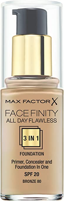 82 opinioni per Max Factor- Fondotinta Facefinity All Day Flawless 3 in 1, n° 80 Bronze