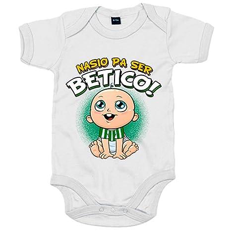 Body bebé nacido para ser bético Betis fútbol - Blanco, 6-12 meses