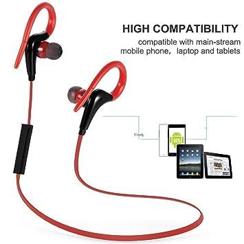 Auriculares Bluetooth, shrmia Bluetooth inalámbrico auriculares con cancelación de ruido auriculares/micrófono [Gimnasio