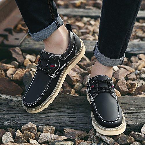 Abby 2096 Mens Klassiska För Alla Tillfällen Loafers Förar Skor Svart