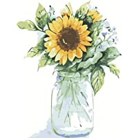 Sunflowers Paint by Numbers for Adults Kids Kits Easy for Beginners DIY Art Craft Paintings Set on Canvas Acrylic Oil…