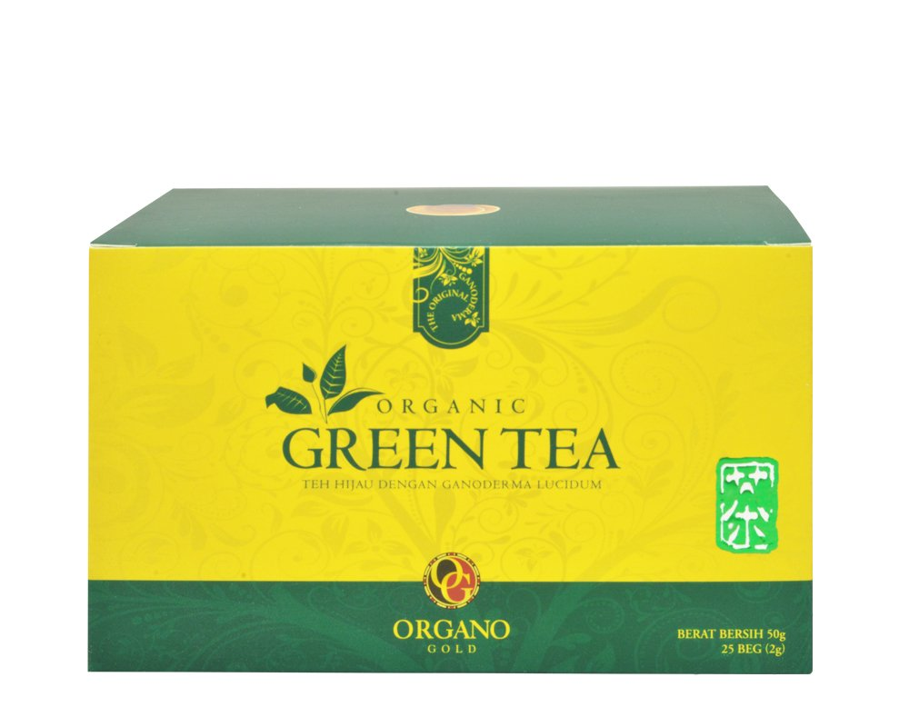 Organo Gold Organic Green Tea-1.75 oz 25 count