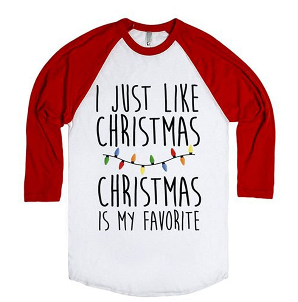 Amazon.com: I just Like Christmas is my Favorite T-shirt Women ...