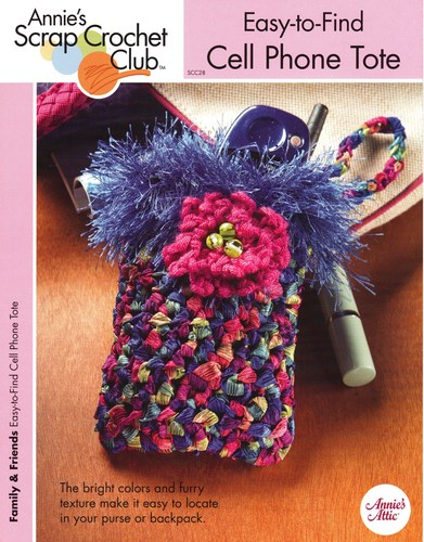Easy To Find Cell Phone Tote One Crochet Pattern Annies Scrap