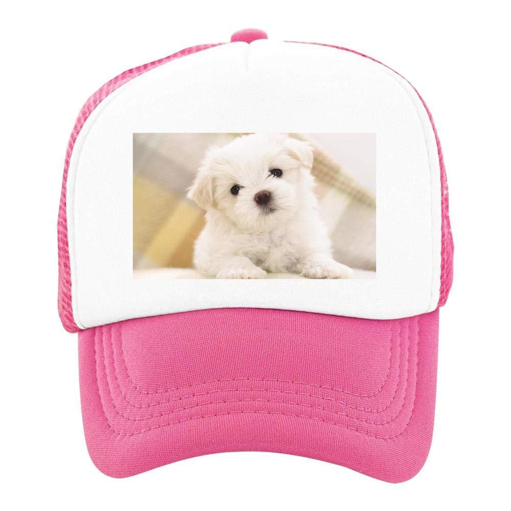 EThomasine Kids Girls Boys Mesh Cap Trucker Hats Lovely Dog Adjustable Hat Pink