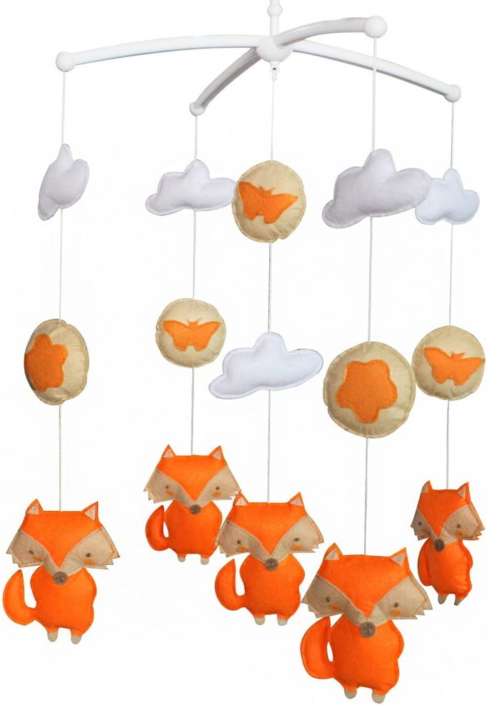 Nonwovens Crib Mobile Musical Hanging Bell Baby Toy Fox Type 06