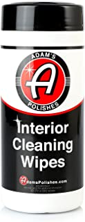 product image for Adam's Interior Cleaning Wipes 30 (7 x 9 inch) Wipes - Powerful Cleaner Removes Embedded Dirt - Great for Leather and Vinyl Steering Wheels, Door Panels, Dashboards, Plastic, and Other Vinyl (1 Pack)