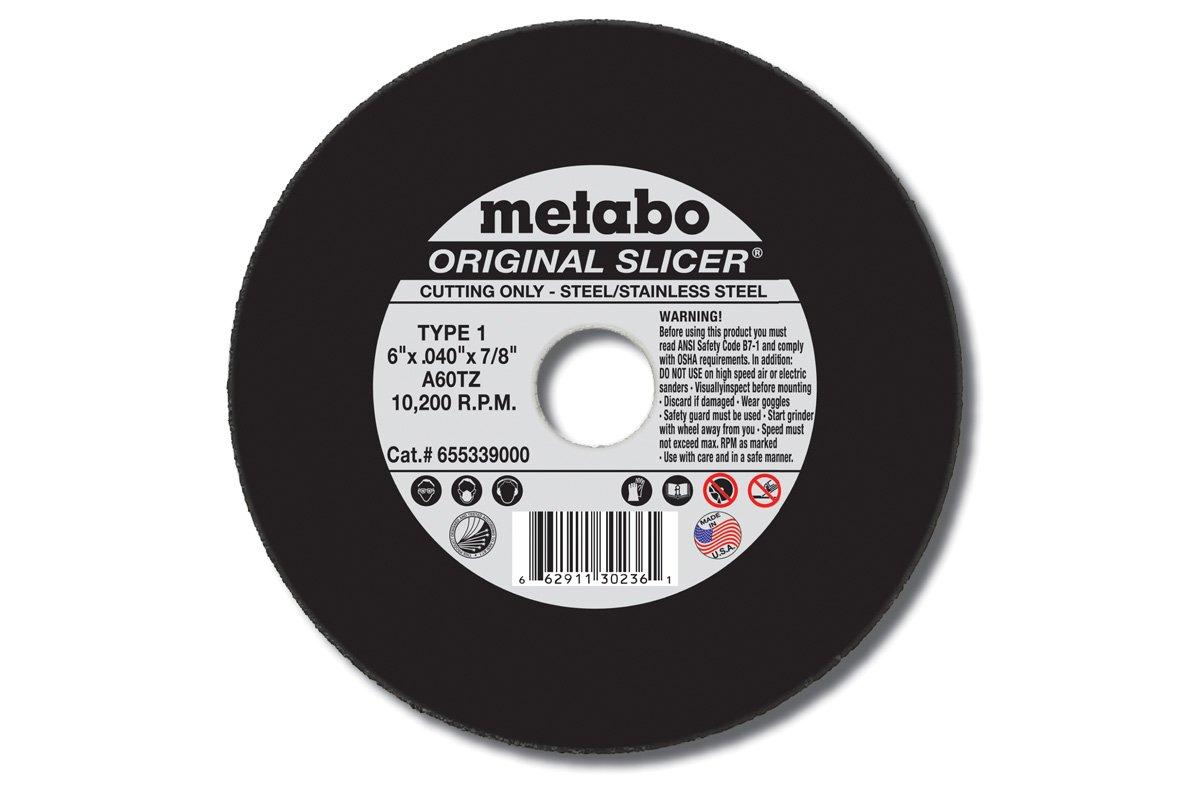 Metabo Slicer Cut Off Wheel 6'' X .040'' Box 50