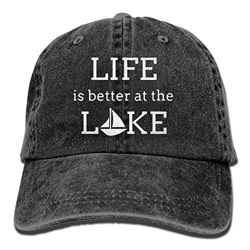 is Adjustable Women béisbol Lake Life The Sports Baseball Denim at Gorras Walnut Cap Hat Cake 1 Better Cap 1 Baseball SqwT60p