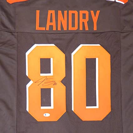 the best attitude 6ec5a c3c68 CLEVELAND BROWNS JARVIS LANDRY AUTOGRAPHED BROWN JERSEY ...