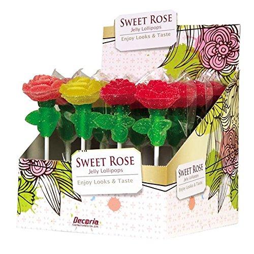Decoria Rose Lollipop 16 piece Box Art.11110 (Assorted)