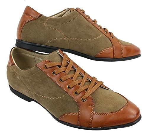 2ab4453d80b630 Chaussures Homme avec Lacets Style Chic décontracté Simili Cuir et Daim:  Amazon.fr: Chaussures et Sacs
