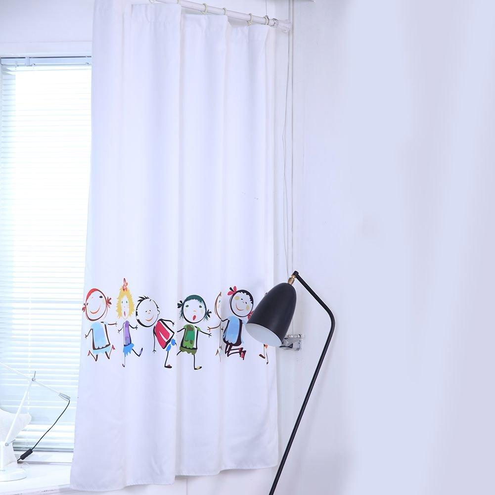 Wingbind Rideaux occultants, Happy Cartoon Kids Patterns Oeillets isolants Thermiques Rideaux de Fenêtre de Traitement pour Les Enfants Chambre Salon Chambre de Bébé
