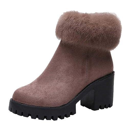 miglior sito web 93712 a88ad Stivali Donna,Boots Stivaletti Donne Sexy Tacco Spesso Moda ...