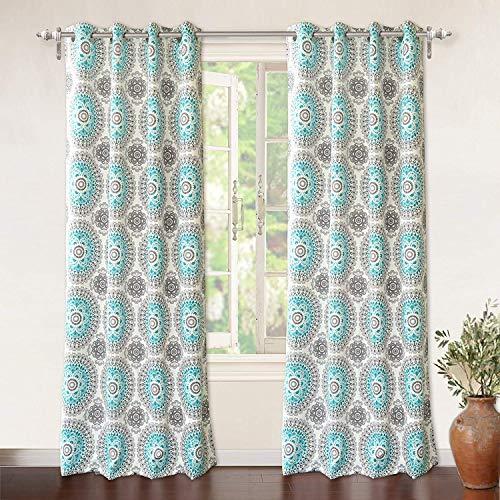 "(DriftAway Drift Away Bella Room Darkening Grommet Unlined Window Curtains, Set of Two Panels, Each 52""x96"")"