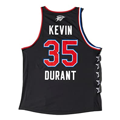 Camiseta Tirantes (Tank Top) Adidas - All Star Replica Jersey West Kevin Durant Negro XL: Amazon.es: Zapatos y complementos