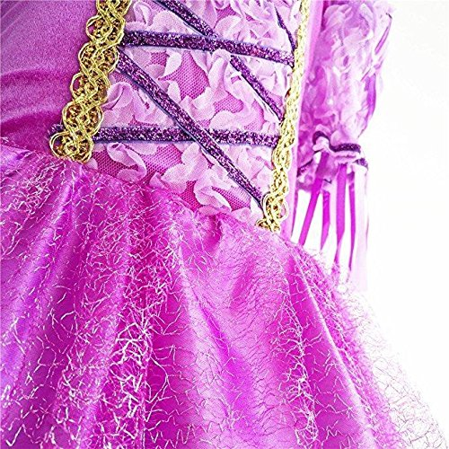 SweetNicole Princess Rapunzel Purple Princess Party Costume Dress with Accessories (7-8) by SweetNicole (Image #5)