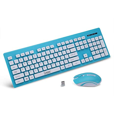 b212dc176a6 Amazon.com: fosa Portable 2.4G Wireless Keyboard & Mouse Combo for Computer  Desktop Computer Laptop(Blue): Computers & Accessories