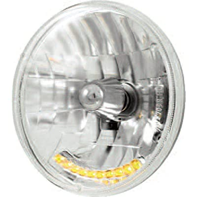 "United Pacific S2010LED 7"" Crystal Headlight with 10 Amber LED: Automotive"