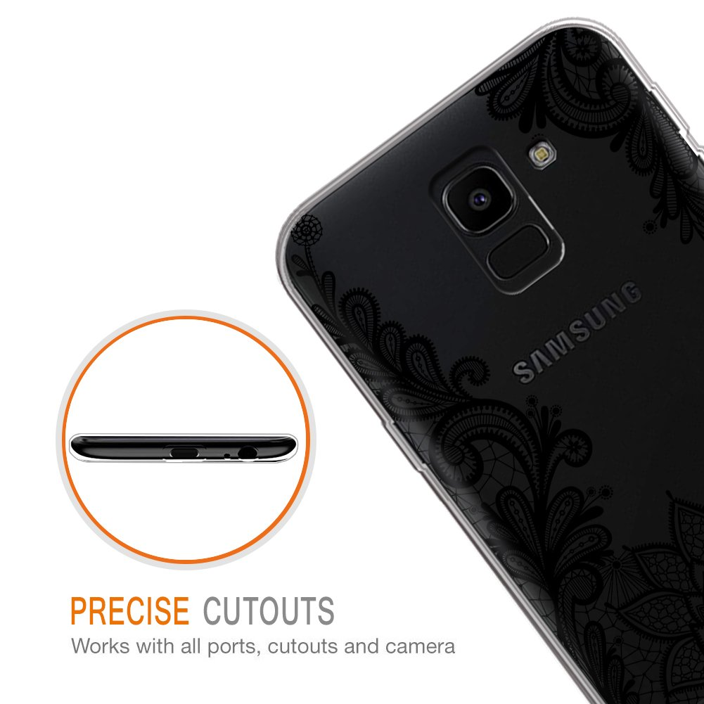 Unicornio C/árcasa Silicona 3D Transparente con Dibujos Dise/ño Suave Gel TPU de Protector Case Fundas para Movil Samsung J62018-5,6 Pulgadas Antigolpes Eouine Funda Samsung Galaxy J6 2018
