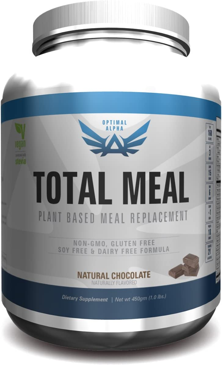 IMSOALPHA, Vegan Meal Replacement, Non-GMO, No Gluten/Soy/Dairy/Wheat/Artificial Flavors/Sweeteners/Preservatives (Chocolate)