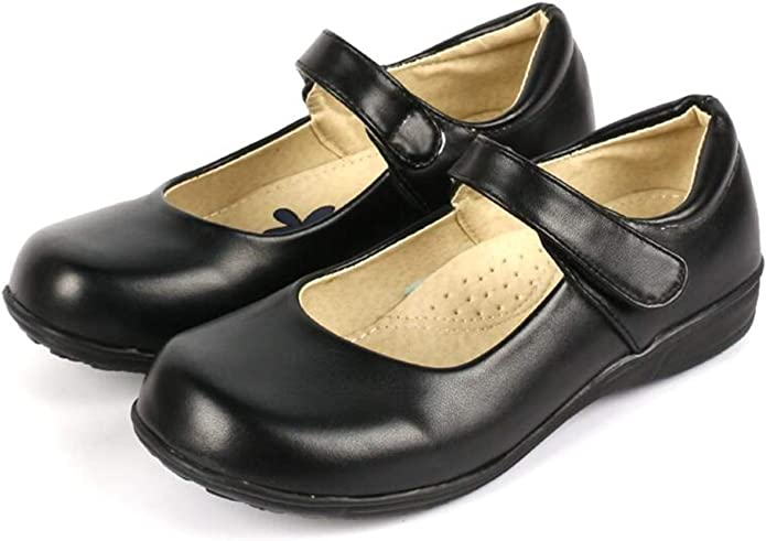 Dance Shout Junior Black//Black Patent Leather Girls Mary Jane School Shoes