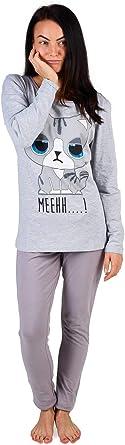 TALLA M 40-42. Pijama Mujer Chica 100% Algodón Set Mickey Mouse Minnie Mad Catz Tallas 36-50