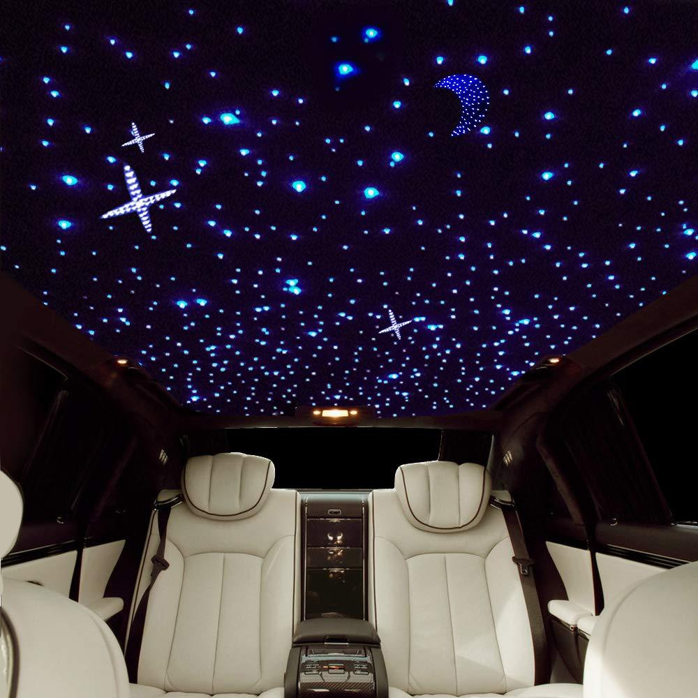 200 pz 0,75 mm 2 m Fernbedienung Touch Deckendekoration 150 pz buwen Plastic Star Ceiling Kit DC 12 V 6 W RGB 100 pz