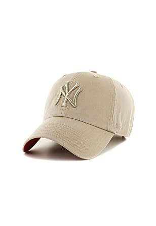 Gorra 47 Brand - Mlb New York Yankees Clean Up Curved V Relax Fit caqui talla: Ajustable: Amazon.es: Ropa y accesorios