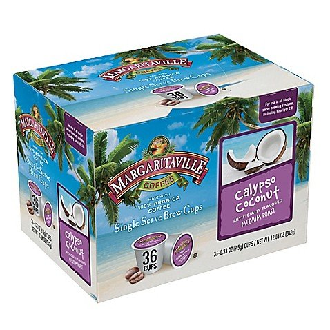 (Margaritaville Coffee K Cups Medium Roast K Cups - Calypso Coconut Flavored Coffee for Single Serve Coffee Maker 36 Count)