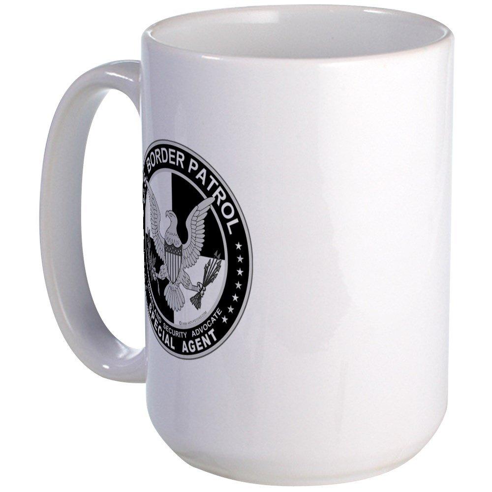 CafePress - Anti-Imm US Border Patrol Spa Large Mug - Coffee Mug, Large 15 oz. White Coffee Cup