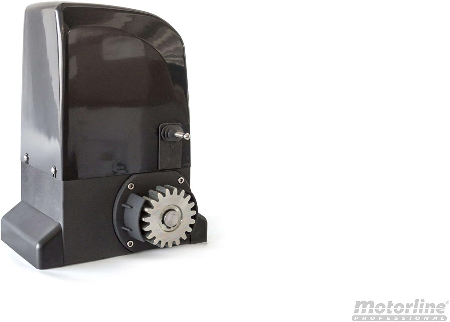 con accesorios de calidad profesional y manual en espa/ñol. Kit completo Motorline Bravo 500 motor corredera profesional para automatizar puertas y cancelas correderas de hasta 500 kg de peso