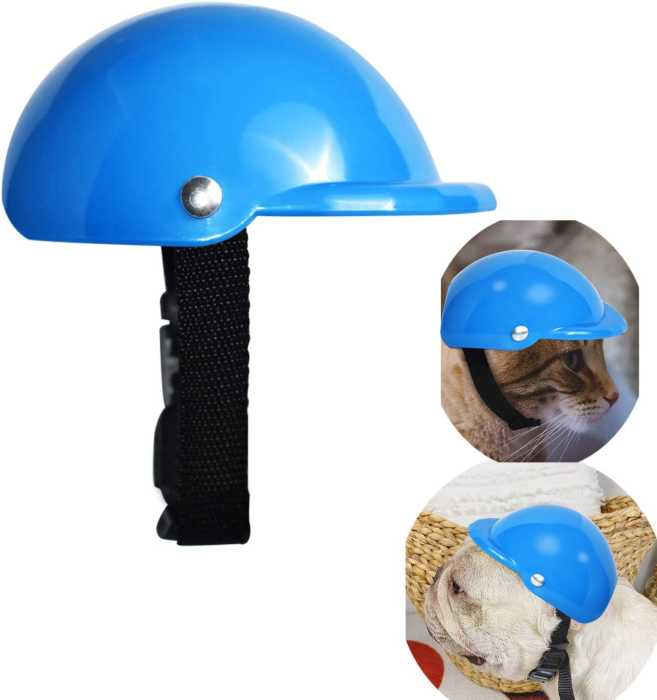 S, White GUGELIVES Pet Dog Helmet Doggie Hardhat for Puppy Chihuahua Blind Dogs Ridding Motorcycles Bike Outdoor Activities to Protect Head Sunproof Rainproof Pet Supplies for Small Medium Big Dog Helmets