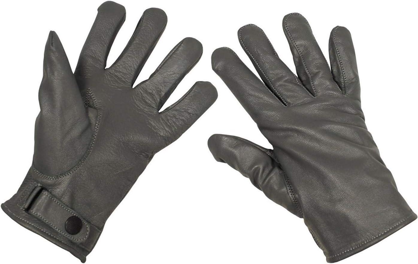 gef/üttert Mod. MFH BW Lederhandschuhe grau