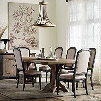 510167d37d Hooker Furniture Corsica Pedestal Dining Table with 2 Leaves in Light Wood