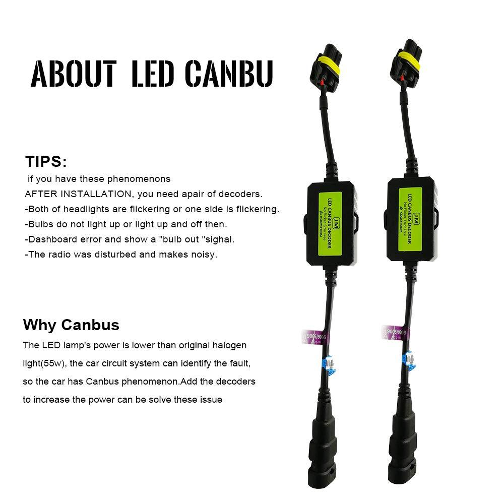 Anycar Led Headlight Decoder 9005 9006 9012 Canbus Flickerledcircuit Flickr Photo Sharing Resistor Anti Flicker Harness Bulb For Warning