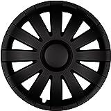 (Farbe und Größe wählbar!) 15 Zoll Radkappen AGAT (Schwarz matt) passend für fast alle Fahrzeugtypen (universell)